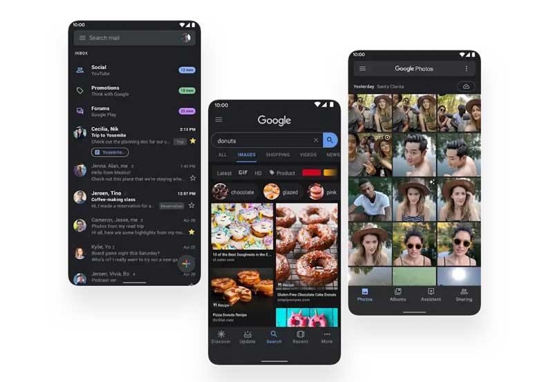 android 10 dark theme